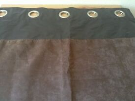 Pair of Fully-lined Eyelet Curtains
