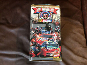 50th anniversary NASCAR VHS 5 tapes