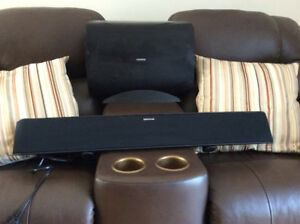 Sound bar and woofer