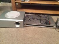 Surround sound system with DVD player