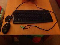 Wireless Logitech keyboard and mouse
