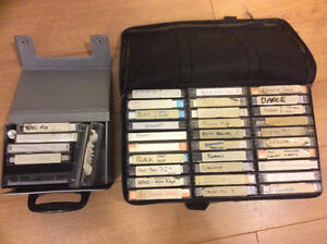 Variety of mixed cassette tapes