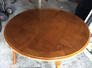 Solid wood kitchen or dining room table (with 2 leaves) $30.