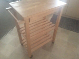 Portable small kitchen island $30 obo