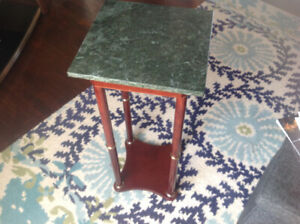 Marble top plant - lamp stand