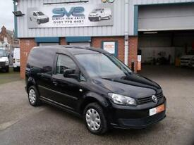 VOLKSWAGEN CADDY 1.6 TDI TRENDLINE 102BHP IN MET BLACK ELECTRIC PACK @ SVS