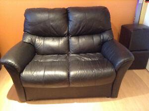 Black love seat