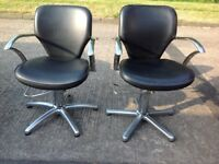 Pair Hydraulic Swivel Barber salon tattoo chairs