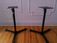 Pair of Konig and Meyer 26720 Monitor Stands - $200