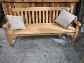 Heritage oak 4 seater bench