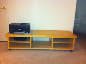 Long Wooden TV Table