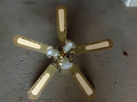 4 Blade Ceiling Fan with 4 Lights.