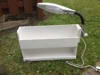 Shelf and reading light. Bunk bed buddy £25