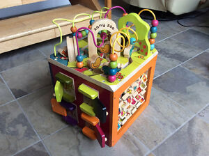 Zany Zoo Wooden Activity Cube for Toddlers