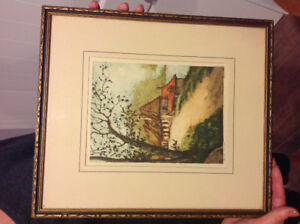 Boyer signed etching