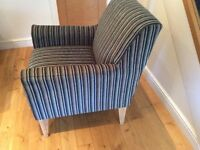 Set of two luxury teal stripe chairs