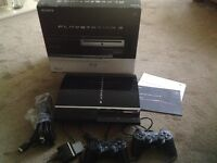 PS3 SONY PLAYSTATION 3 60GB BLACK WITH BOX BUNDLE AND GAMES IN EXCELLENT CONDITION