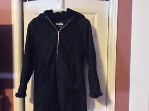 Black GAP suede coat - girls size XL (16/18)