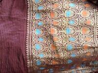Pure silk brown sari. 4.6m x108 cm