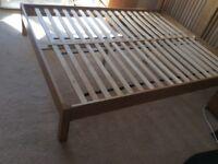 King size oak bed frame