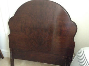 Antique headboard and foot
