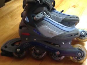 patins roues alignées différentes grandeur