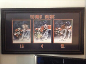 Hall-Eberle-Paajarvi Oiler autographed pictures framed
