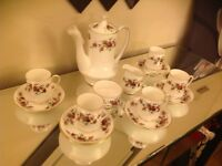 Royal standard fine bone china coffee set