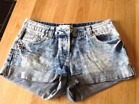 Ladies Blue Denim Shorts - Size 8