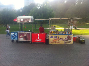 custom build hot dog cart