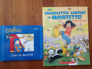 2 French Children's Books, Caillou and a Robert Munsch book
