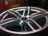 Mags originales de Porsche 911 + TPMS + pneus d'hiver
