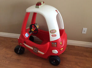 Little tykes cozy coupe fire truck