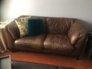 Leather Love Seat and Chair REDUCED