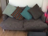 Grey 3 seater sofa & chair