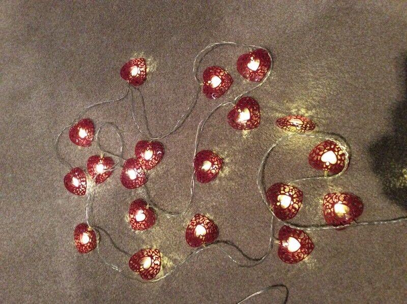 Red Heart Fairy Lights