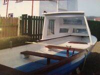 15Ft F/Glass 1/2 Cab Boat on Galvanised Trailer. Sensible Offer accepted