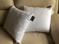 Pair of Duck feather cushion pads 45x45cms John Lewis