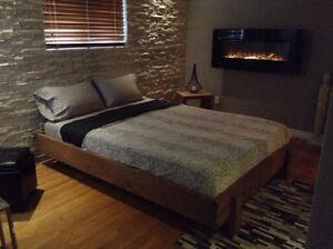 Bases de lit neuves en bois