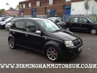 2008 (58 Reg) Fiat Panda 1.4 16v 100HP 5DR Hatchback BLACK + LOW MILES