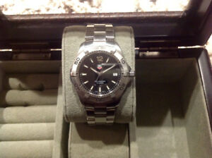TAG HEUER AQUARACER WITH A BLACK FACE