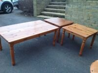 Ikea coffee table and 2 x Lamp tables