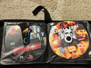 DVDs and a case