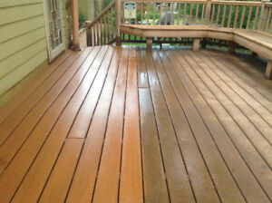 Professional Power Wash, Sand and Seal