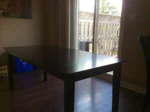 Large Black Kitchen Table - Seats 6