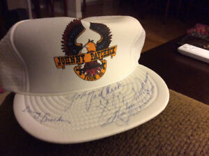 Johnny Paycheck signed ball hat