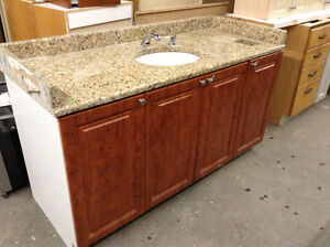 Granite Top Vanity with Touchless Faucet