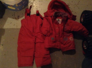 2 girls snowsuits sizes 2&3