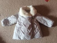 VGC Beautiful Zara Girls Coat Aged 2-3