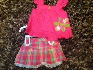 NWT girls size 12 months shirt and shirt with diaper cover